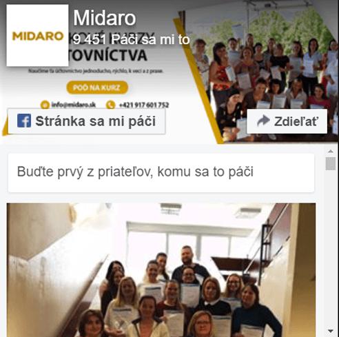 Nájdete nás aj naFacebooku - MIDARO