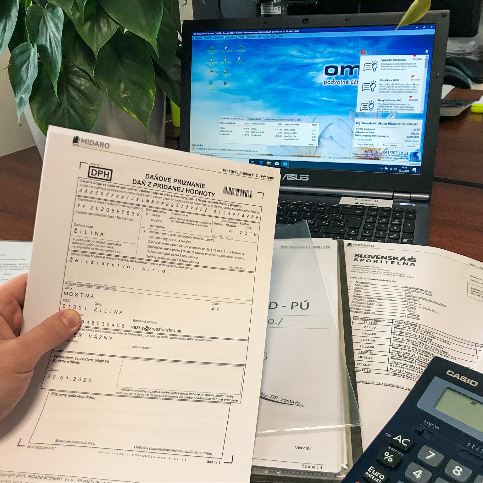 Tréning JUNIOR účtovníka sreálnymi účtovnými dokladmi